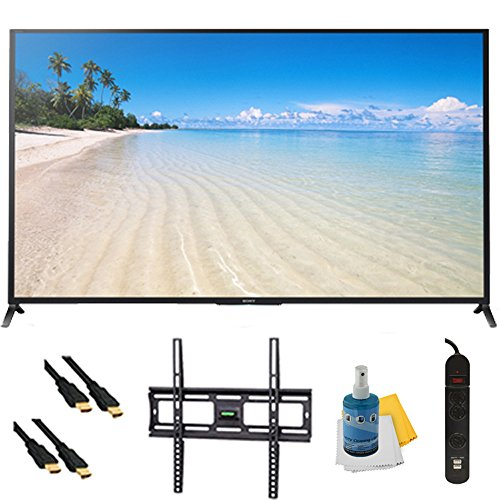 """70"""" 1080P 120Hz Smart 3D Led Hdtv Wifi Plus Mount & Hook-Up Bundle - Kdl70W850B. Bundle Includes Tv, Flat Tv Mount, 3 Outlet Surge Protector W/ 2 Usb Ports, 2 -6 Ft High Speed Hdmi Cables, Performance Tv/Lcd Screen Cleaning Kit, And Cleaning Cloth."""