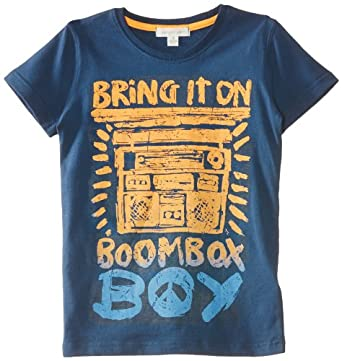 Pumpkin Patch Boy's Endless Wave Boom Box Sports T-Shirt, Blue (Night Sky), 2 Years