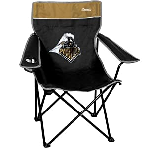 NCAA Coleman Purdue Boilermakers Quad Folding Chair - Black/Old Gold