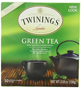 Twinings Green Tea, 50-Count Teabags  (Pack of 6)