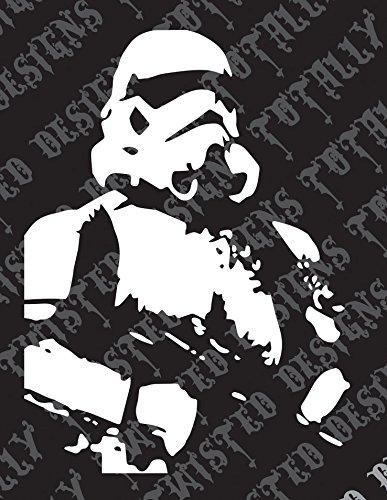 [Star Wars storm trooper car truck vinyl decal sticker empire stormtrooper jedi] (Baby State Trooper Costume)