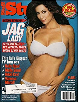 CATHERINE BELL JAG STUFF OCTOBER 2003 KELLY RIPA MOLLY SIMS NIKKI COX