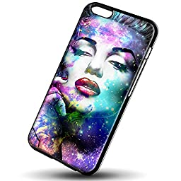 Hot Marilyn Monroe in Galaxy for iPhone 6/6s Black case