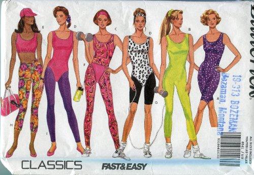 Butterick Pattern 6541 ~ Misses' & Misses' Petite Unitard, Leotard Top, Briefs, Leggings & Headbands ~ Sizes SX-XL (6-22)