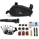 Roswheel Bicycle Bicycle Bike Cycling Repair Tools Cycle Maintenance Kits Black Set with Pouch Pump