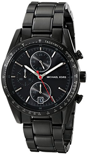 Michael Kors MK8386 38mm Black Steel Bracelet & Case Mineral Men's Watch