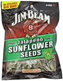 "Jim Beam Jalapeno Sunflower Seeds ""Roasted by BIGS"", 5.15-Ounce Bags (Pack of 12)"