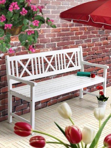 gartenbank wei holz 2 sitzer bestseller shop. Black Bedroom Furniture Sets. Home Design Ideas
