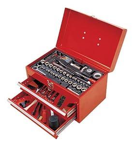 150 piece auto mechanics tool set box chest diy tools. Black Bedroom Furniture Sets. Home Design Ideas