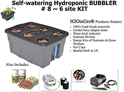 "H2OtoGro® SELF-WATERING Hydroponic Bubbler ~ #8 20""x15"", 6 Site"