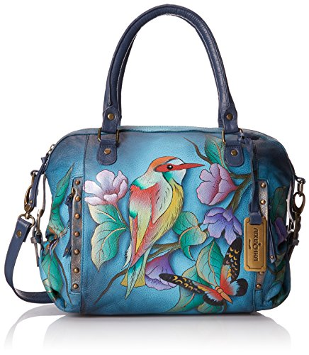 Anuschka Zip Top Medium Top Handle Bag, Hawaiian Twilight, One Size