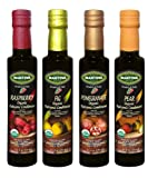 Organic Fig, Raspberry, Pear, Pomegranate Balsamic Vinegar, 4x8.5 Oz Bottles