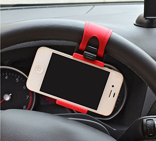 JessicaAlba Universal Cell Phone Car Mount Holder on Steering Wheel Better View & Buckle Clip Hands Free For Nissan Altima Armada Juke Leaf Maxima Murano Pathfinder Sentra Versa Altima (Nissan Leaf Wheel compare prices)