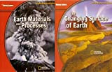 img - for 2 Volumes of Glencoe Science Teacher Wraparound Edition: Earth Materials and Processes & The Changing Surface of Earth (National Geographic) book / textbook / text book