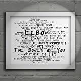 `Noir Paranoiac` Art Print - ELBOW - The Seldom Seen Kid - Signed & Numbered Limited Edition Typography Wall Art Print - Song Lyrics Mini Poster