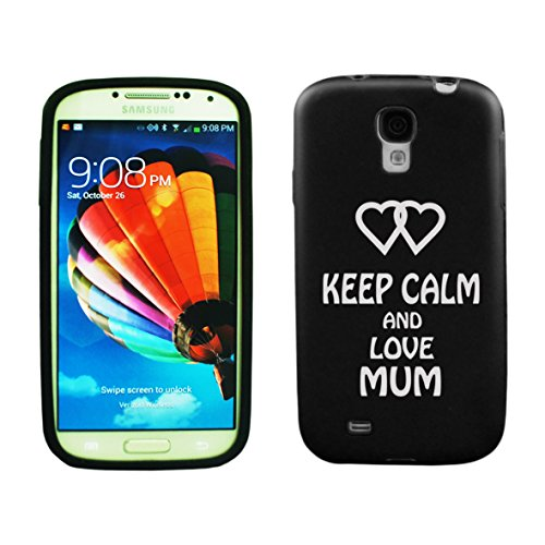 Samsung Galaxy S5 Aluminum & Silicone Case Keep Calm And Love Mum - Lifetime Warranty (Black)