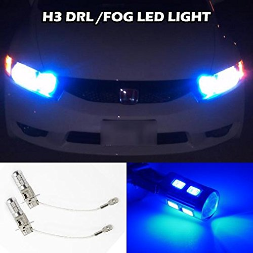 Partsam 2x H3 Xenon Blue LED 5730 SMD Driving Fog Light Extremenly Bright Car Fog Light Daytime Running Led Bubs for Volkswagen Jeep Infiniti Nissan (Toyota Corolla 2002 Fog Lights compare prices)
