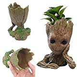 Funtoyworld Creative Groot Planter Pot Baby Groot Flowerpot Movie Tree Man Pen Container Guardians 2 Action Figures Toy Gift (Color: A)