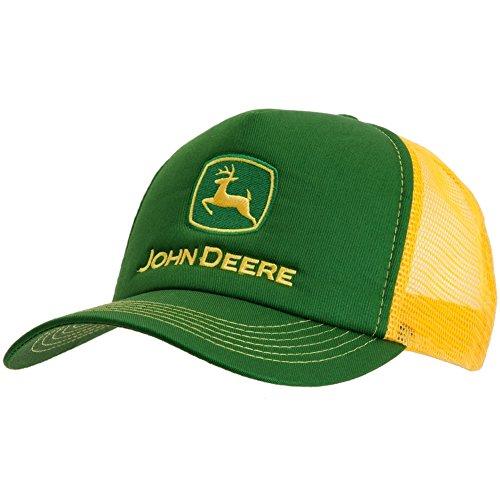 john-deere-casquillo-del-camionero-de-verde-amarillo-logo-amarillo