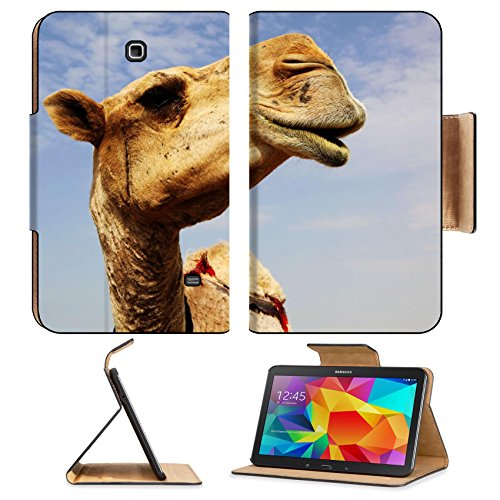 Samsung Galaxy Tab 4 8.0 Flip Case A close up view of the head of a dromedary camel against a slightly cloudy sky 6025115 by Liili Customized Premium Deluxe Pu Leather generation Accessories HD Wifi 16gb 32gb Luxury Protector Case