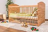 Babybett-Gitterbett-Schlafgut-Buche-Massiv-natur-gelt-70-x-140-cm