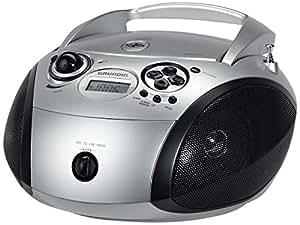 Grundig RCD 1445 Radio (USB 2.0) mit CD/-MP3/-WMA Wiedergabe silber/schwarz