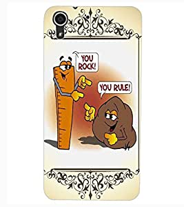 ColourCraft Funny Rock-Rule Design Back Case Cover for HTC DESIRE 626