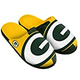 NFL Green Bay Packers Split Color Slide Slipper, Medium, Green