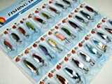30pcs Various Assorted Laser Spinners Spoon Bait Fishing Fishing Spoons