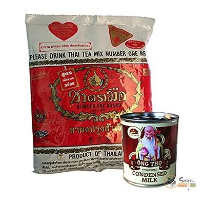 Neue Rezeptur, Original Number One Brand Thai Tea 400g für Thai iced Tea + 1 süße Kondensmilch gratis