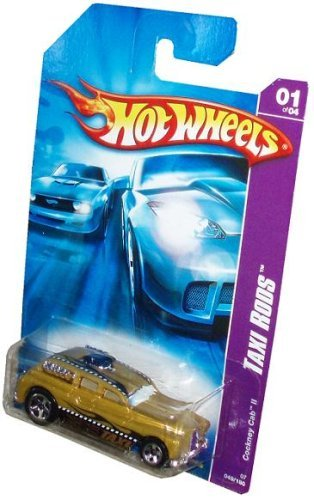 Hot Wheels 2006 Taxi Rods Series 1:64 Scale Die Cast Metal Car # 1 of 4 - Gold Taxi Cockney Cab II with Fun Facts # 49