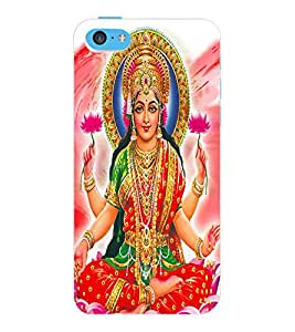 ColourCraft Maa Laxmi Design Back Case Cover for APPLE IPHONE 5C