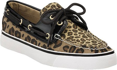 Sperry Top-Sider Women's Biscayne Deck Shoes,Leopard/Black Patent,9 M US