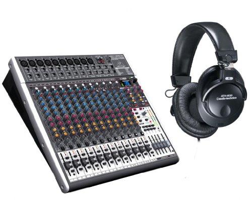 Behringer Xenyx X2442Usb Mixer With Ath-M30 Studio Headphones