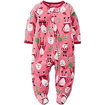 carters-baby-girls-sleep-n-play-pink-santa-onesie-for-newborns