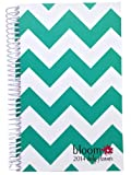 2014 bloom Calendar Year Daily Day Planner Fashion Organizer Agenda January 2014 Through December 2014 Teal Chevron