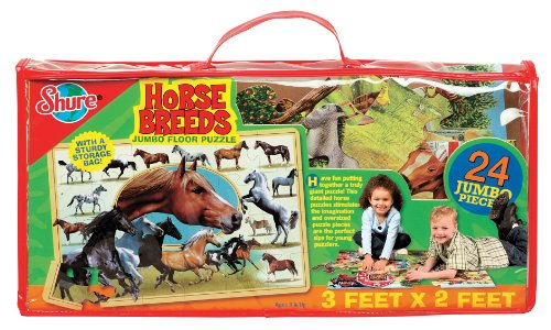 Cheap Fun Shure Horse Breeds Floor Puzzle (B002TKLMRY)