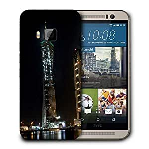 Snoogg Lights On Building Printed Protective Phone Back Case Cover For HTC One M9