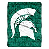 BSS - Michigan State Spartans NCAA Micro Raschel Blanket (Grunge Series) (46in x 60in) at Amazon.com