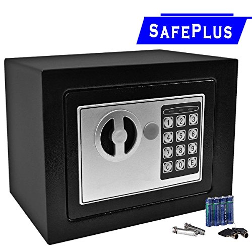 Durable Digital Electronic Safe Box Keypad Lock Home Office Hotel Gun Black (Gun Safe Dehumidifier Battery compare prices)