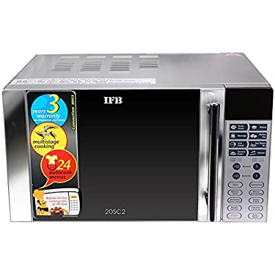 IFB 20SC2 20-Litre 1200-Watt Convection Microwave Oven (Metallic Silver)
