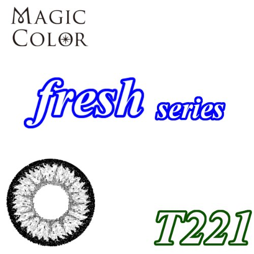 MAGICCOLOR (マジックカラー) fresh T221 度なし 14.5mm 1ヵ月使用 2枚入り