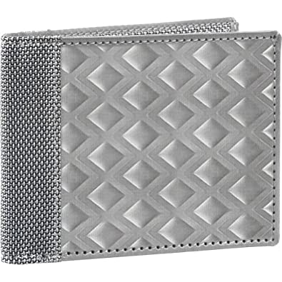 Stewart/Stand RFID Blocking Bill Fold, Large Diamond - Silver