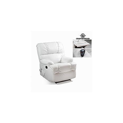 Poltrona relax con massaggio bianca by Craften Wood (1000026203)