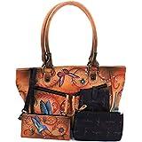 Anuschka Handbag and Wallet Large Leather Shopper Front Pocket