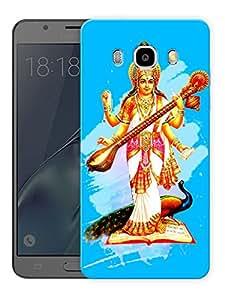 "Saraswati Maa - Hindu GodPrinted Designer Mobile Back Cover For ""Samsung Galaxy J5 2016 Edition"" (3D, Matte, Premium Quality Snap On Case)"