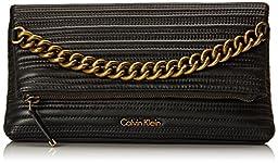 Calvin Klein 4AS Lamb Clutch, Black, One Size