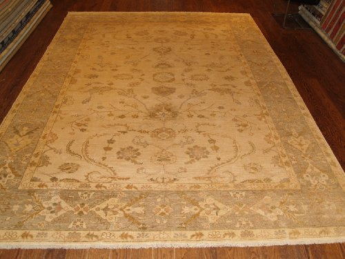 Handmade Turkish Oushak Rug 9'2'x12'3""