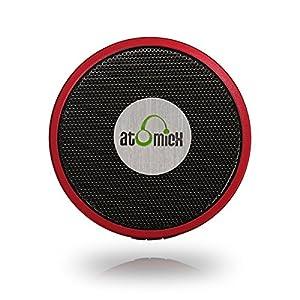 Wireless Speaker Ultra Portable Bluetooth Speaker Outdoor Mini Speaker 1 Year Warranty, Built-in Mic (iDeaUSA® AtomicX Red)