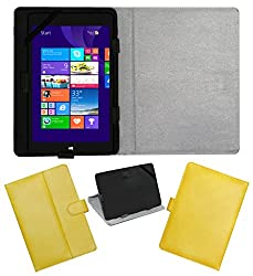 ACM LEATHER FLIP FLAP TABLET HOLDER CARRY CASE STAND COVER FOR NOTION INK CAIN 10 YELLOW
